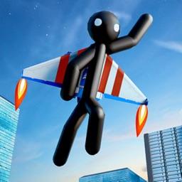 Flying Stickman Gangster City