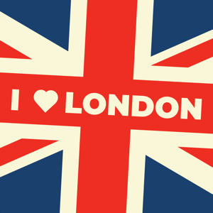 Vintage I Love London Sticker - Stickers app