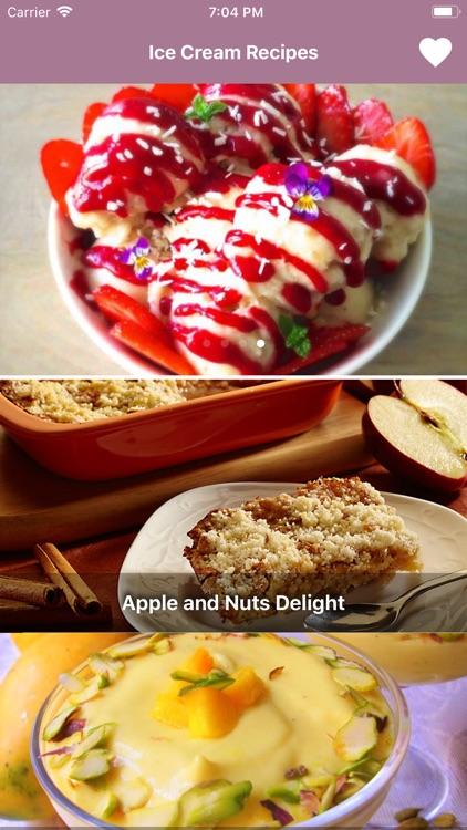 Ice Cream Recipes: English