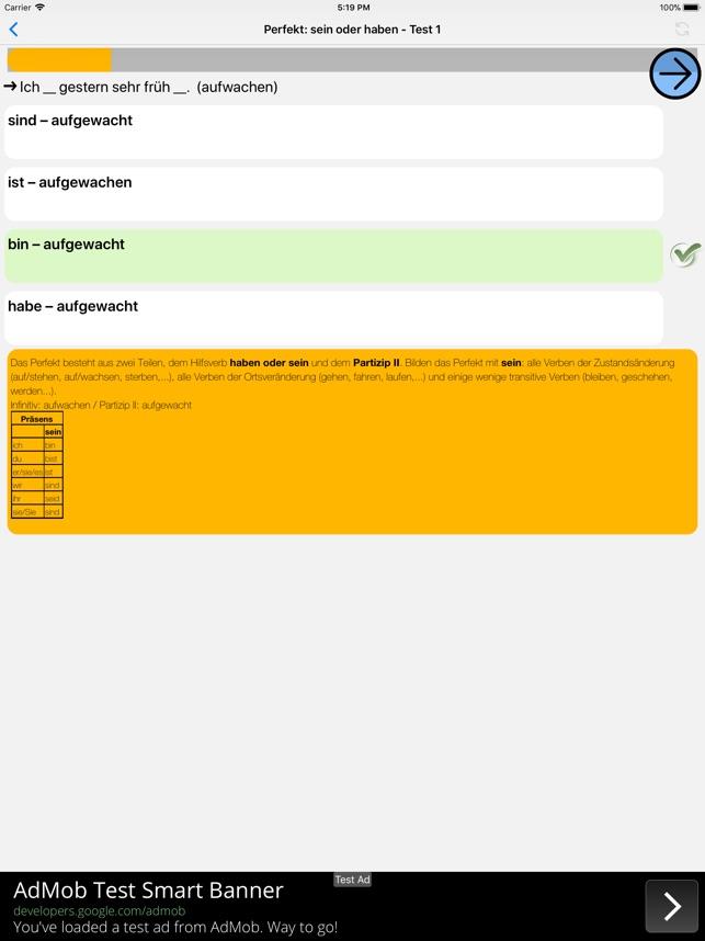 Deutsch Grammatik Test on the App Store
