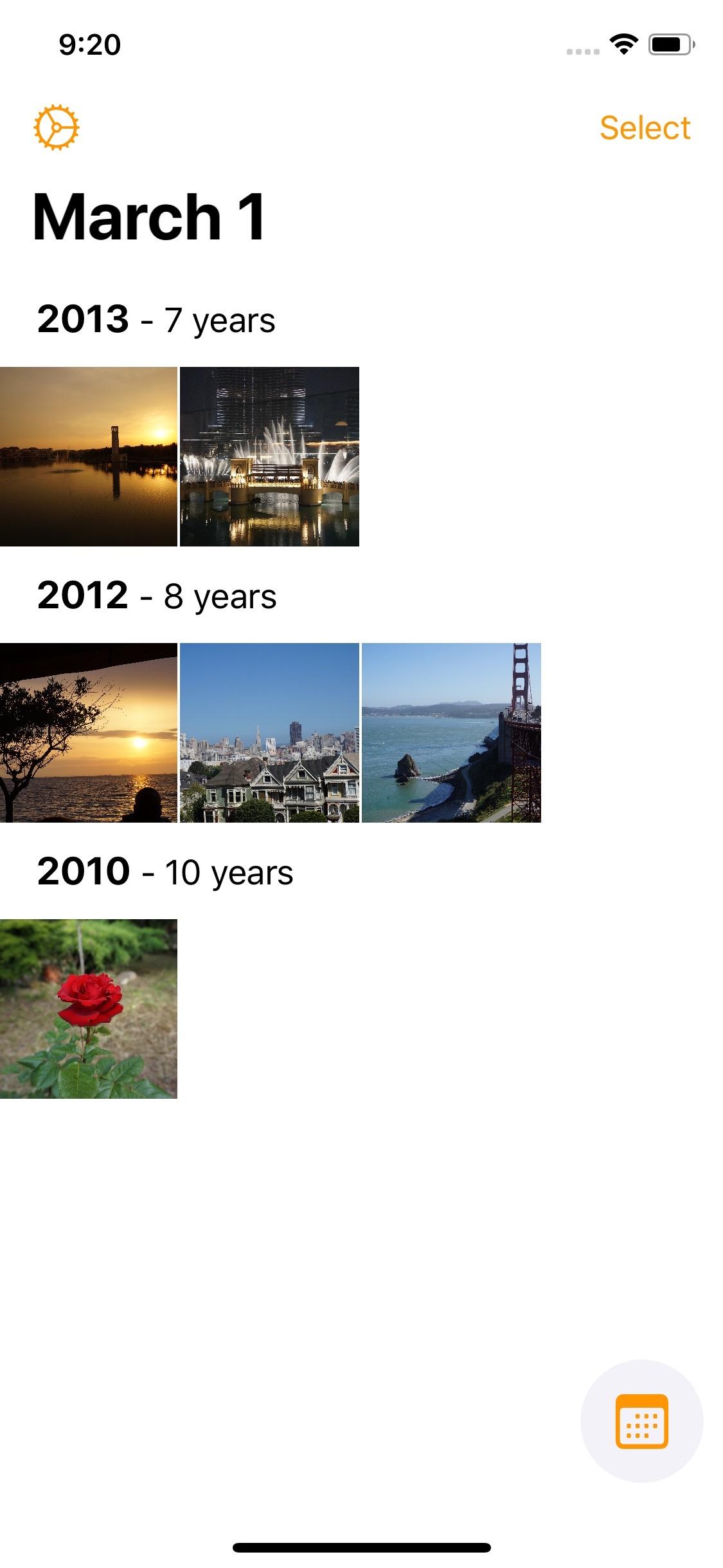 Screenshot do app Photo Flashback!