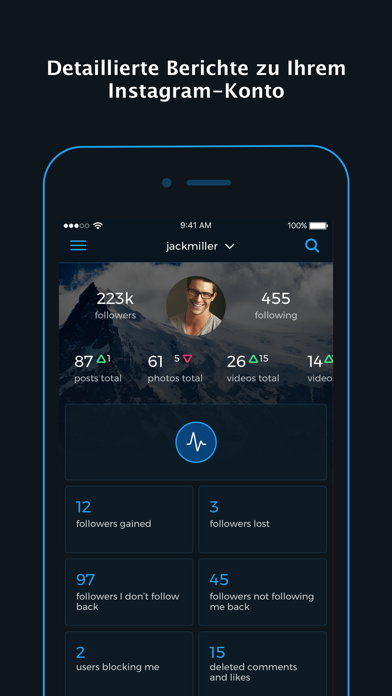 Screenshot for Reports+ für Instagram in Germany App Store
