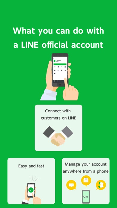 LINE Official Account Screenshot