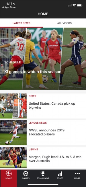 National Women's Soccer League on the App Store