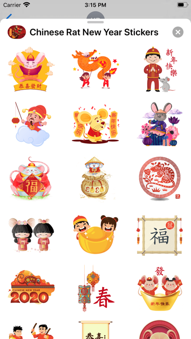 Chinese Rat New Year Stickers screenshot 2