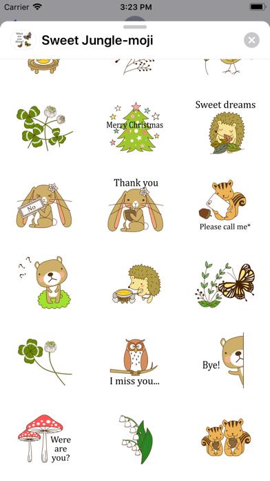 Sweet Jungle-moji screenshot 3