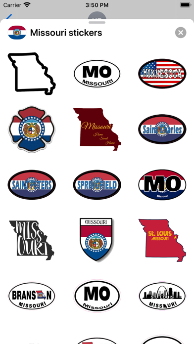 Missouri emoji - USA stickers screenshot 1