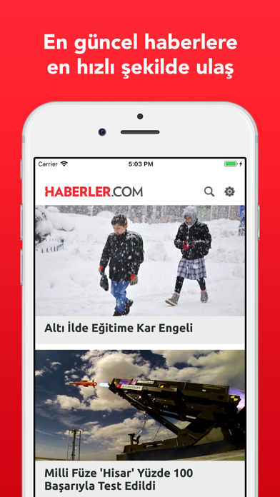 Screenshot #1 pour Haberler.com