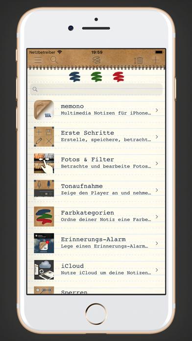 memono Notizen + TagebuchScreenshot von 1
