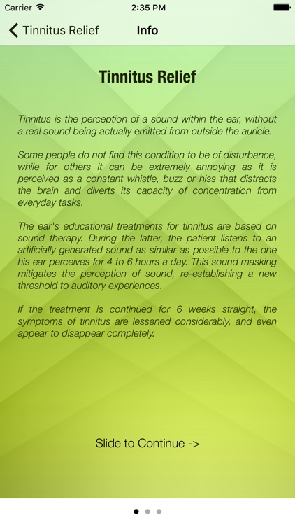 Tinnitus Relief Sound Masking