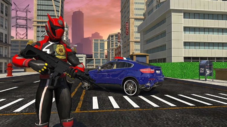 Police Robot War Hero Car Game screenshot-4