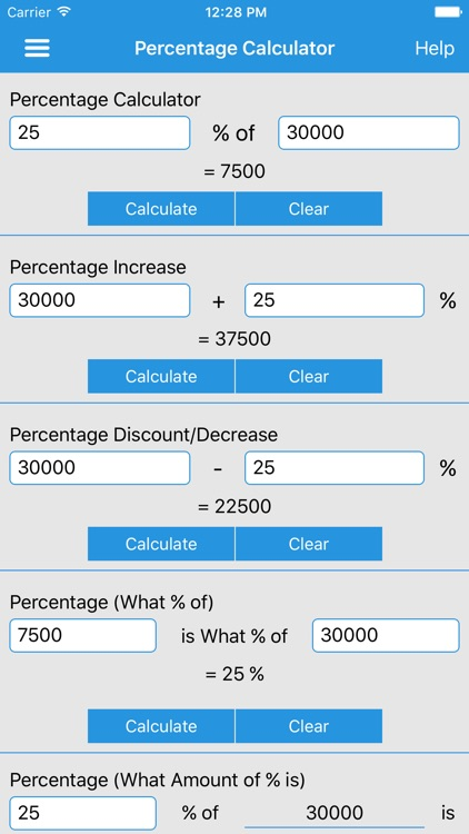 Percentage Calculator :)