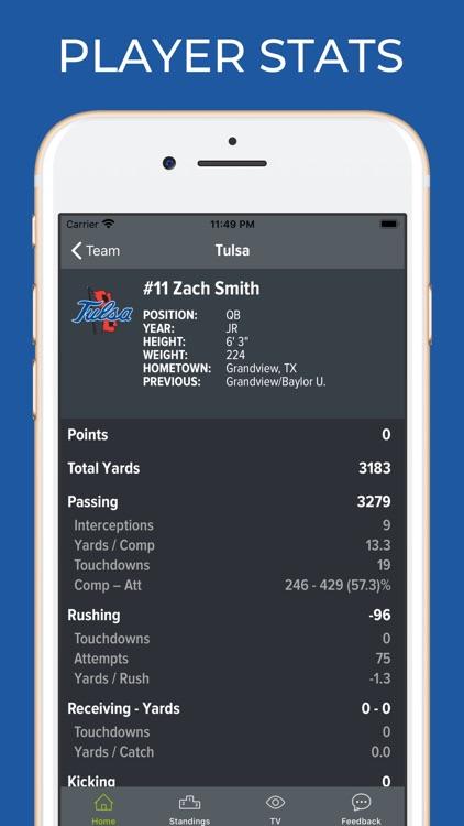 Tulsa Football Schedules screenshot-3