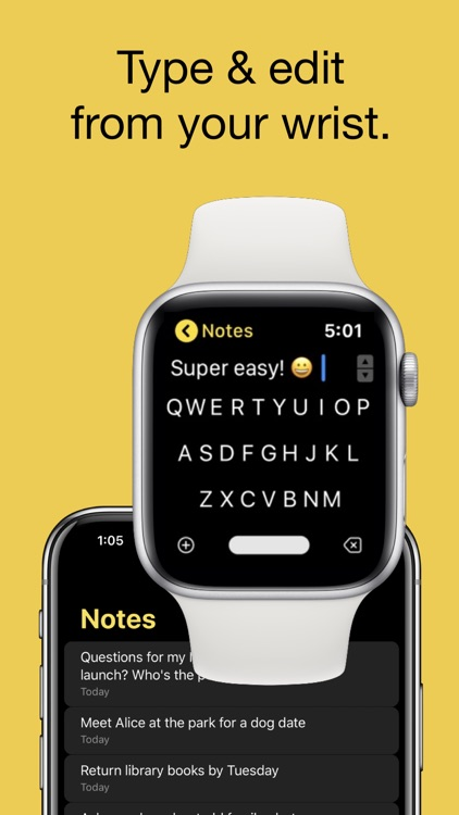 FlickType Watch Notes