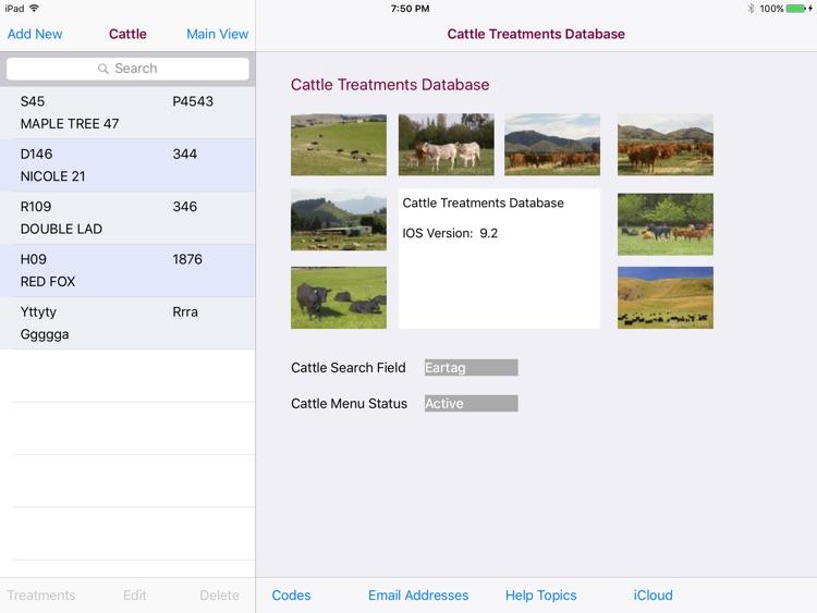 Cattle Treatments Database