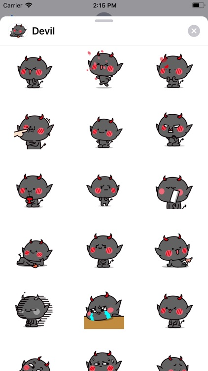 Funny Devil Animated Stickers
