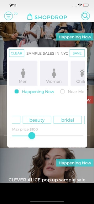 ShopDrop Sample Sales on the App Store