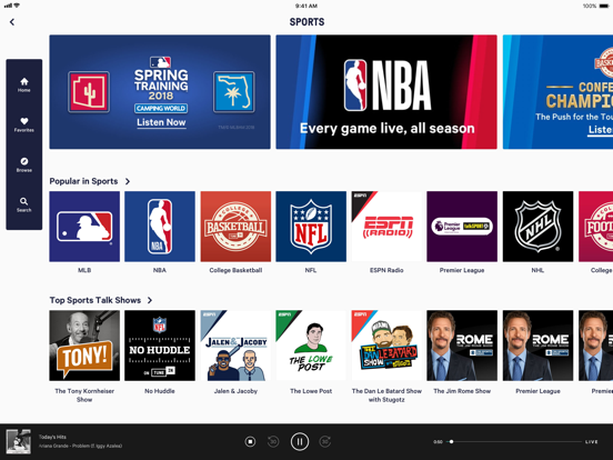 TuneIn: MLB, Radio & Podcasts-ipad-0