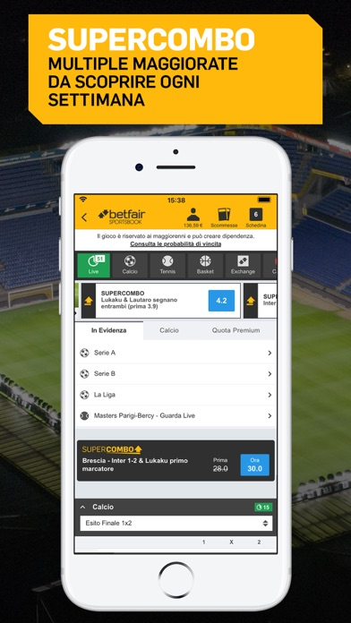 Screenshot of Betfair Sport - Scommesse5