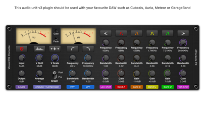 Visual EQ Console AUv3 Plugin screenshot 1