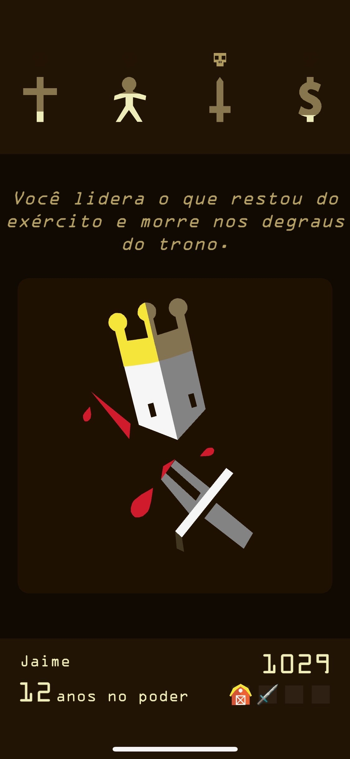 Screenshot do app Reigns