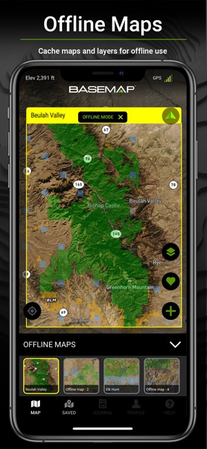 BaseMap: 3D Hunting GPS Maps on the App Store on map of georgia national parks, map weatherford, map chattanooga, map san juan,