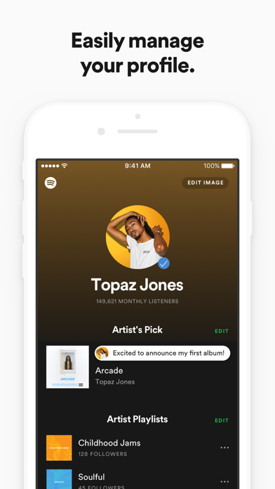 Screenshot for Spotify for Artists in Chile App Store