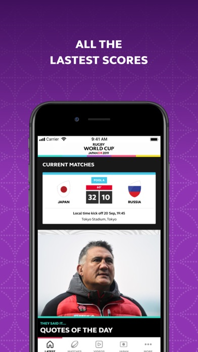 Screenshot for Rugby World Cup 2019 in Canada App Store