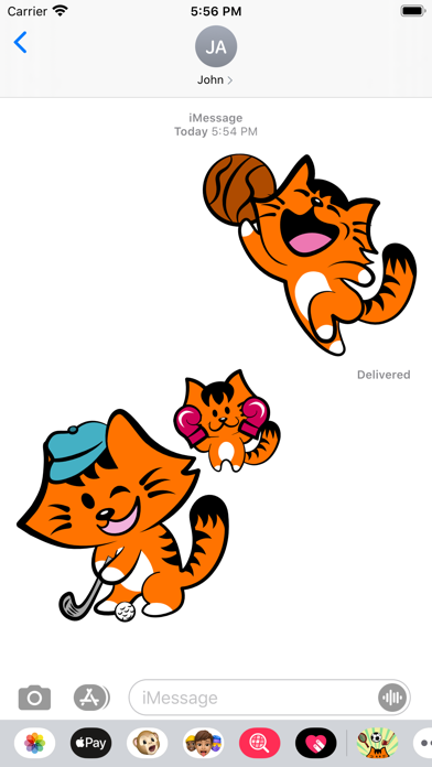 Kikimoji Sports - Cat Stickers screenshot 5