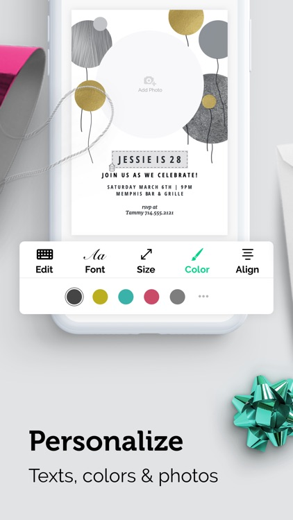 Invitation Card Maker App