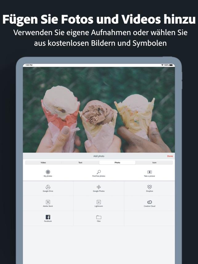 Adobe Spark Video Screenshot