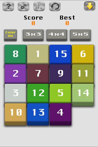 Number Slide-15 Fifteen puzzle - náhled