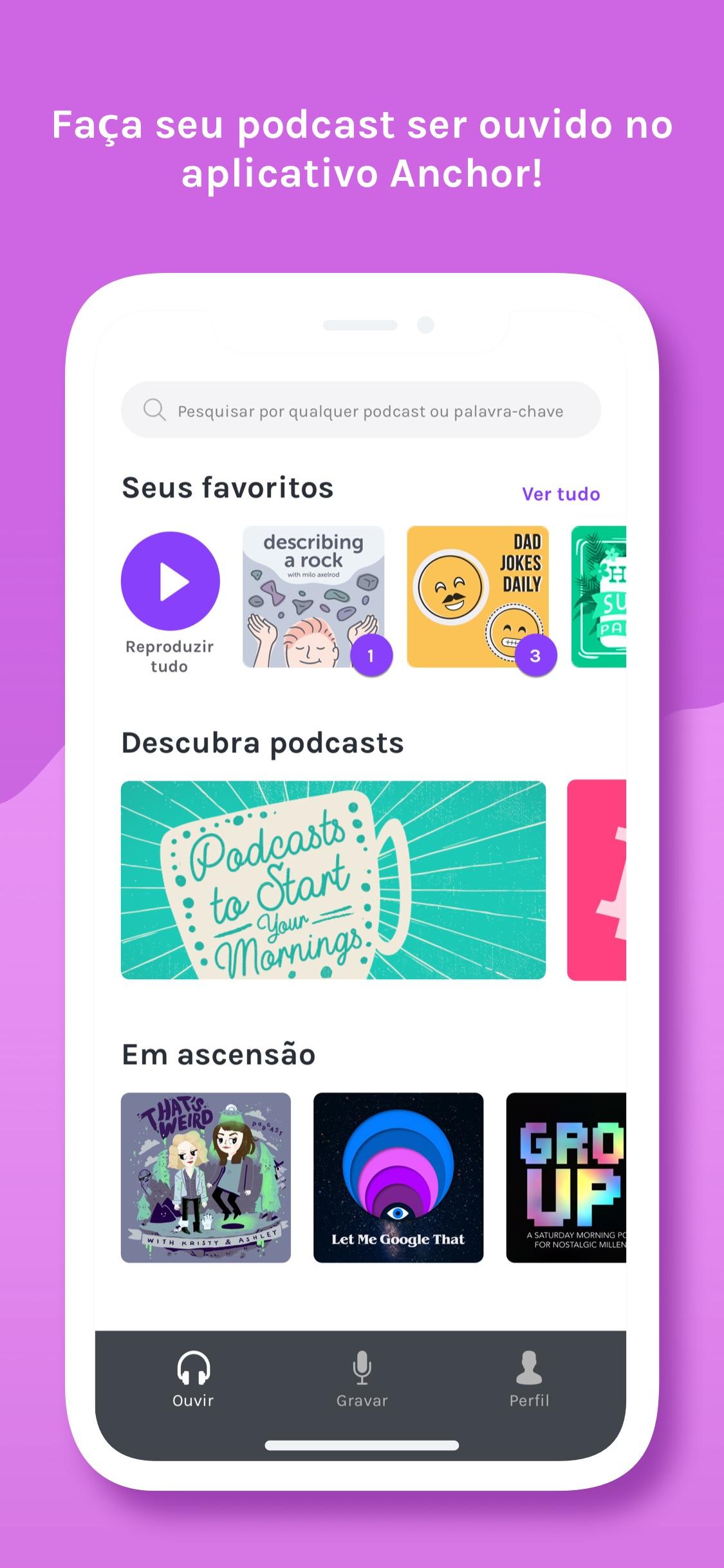 Screenshot do app Anchor