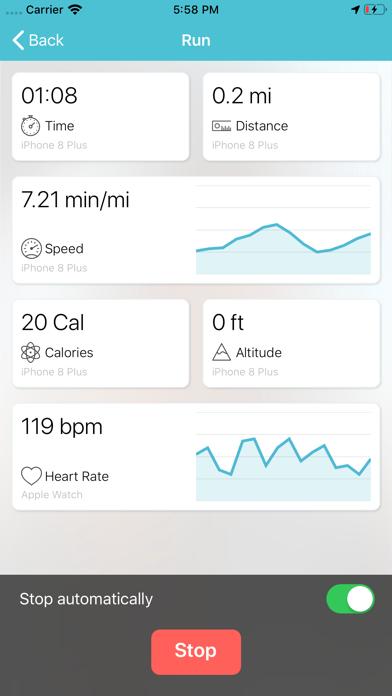 Rebios - GPS Track Running screenshot two