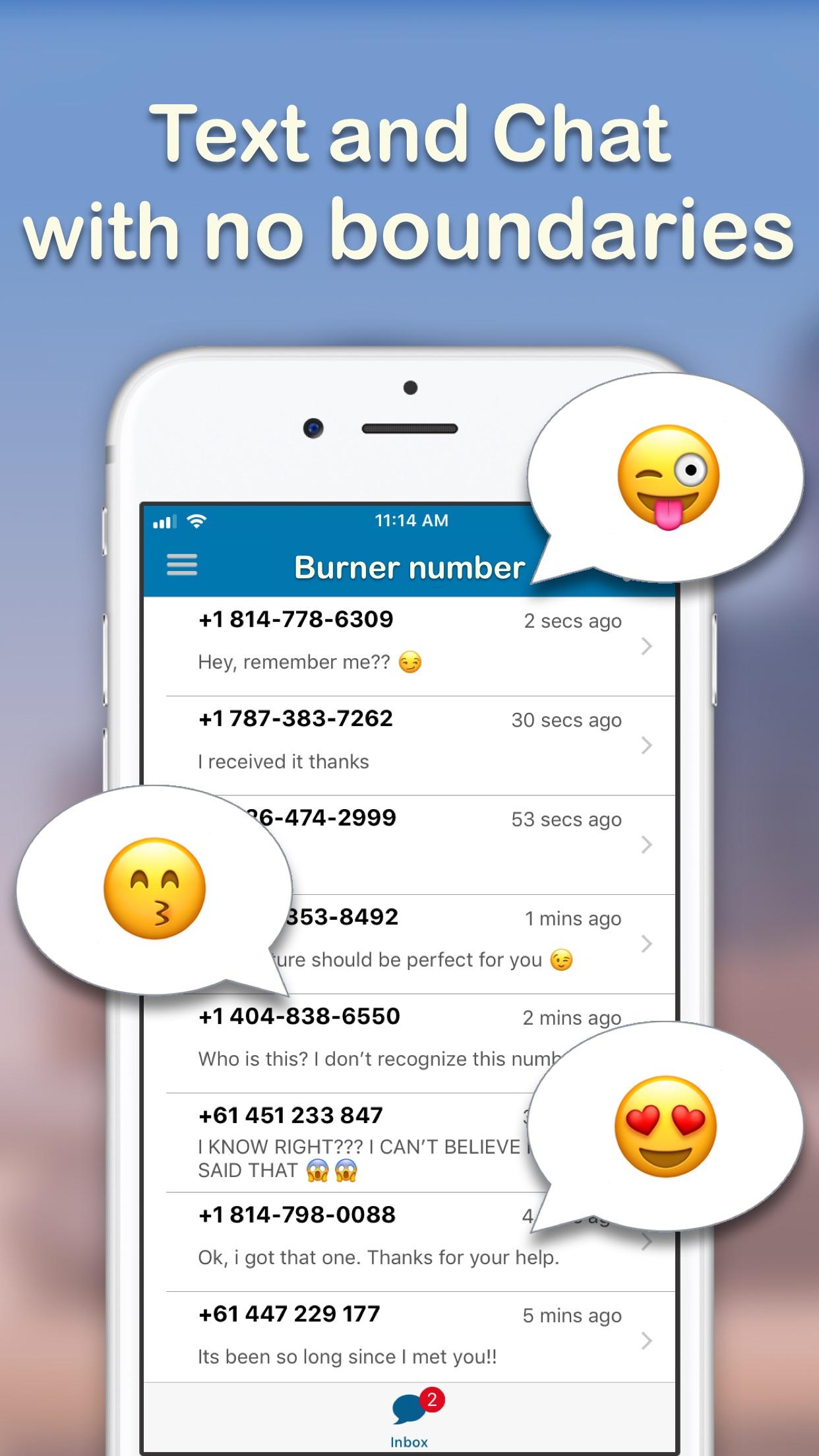 Text Burner -Texting App Screenshot