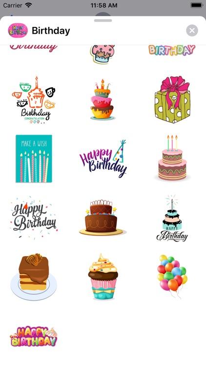100+ Happy Birthday Stickers screenshot-7