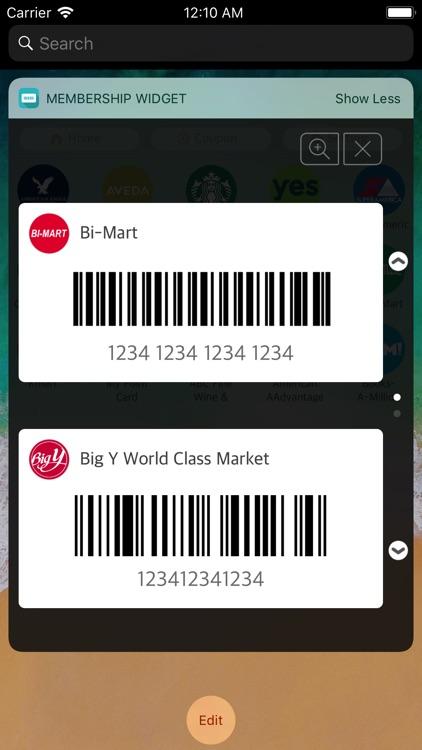Membership widget screenshot-0