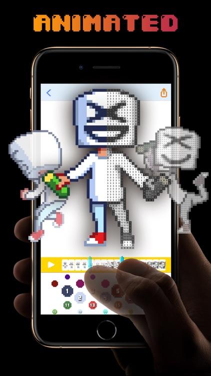 XD pixel - video coloring book