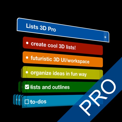 Lists 3D Pro - to-do & outline icon