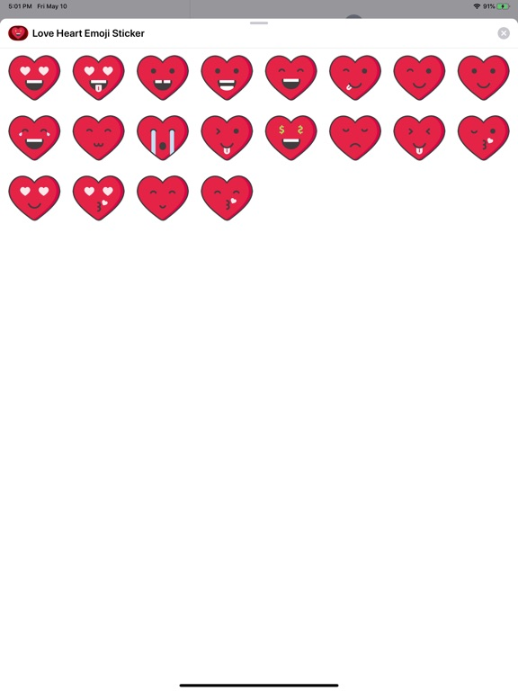 Love Heart Emoji Stickers screenshot 4