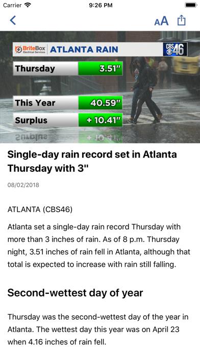 Atlanta Weather - CBS46 WGCL | App Price Drops