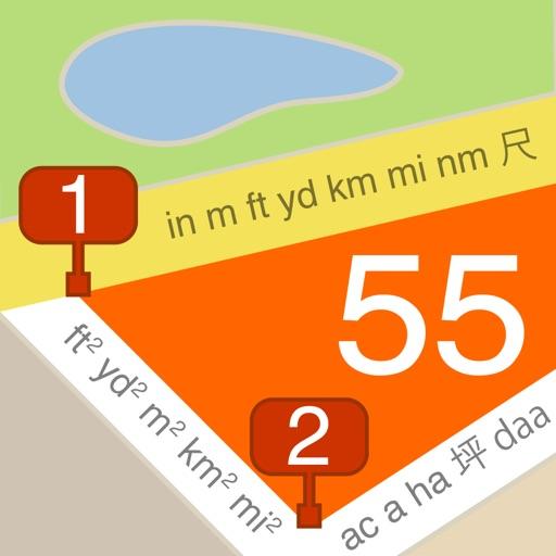 Планиметр. Расстояние+площадь.