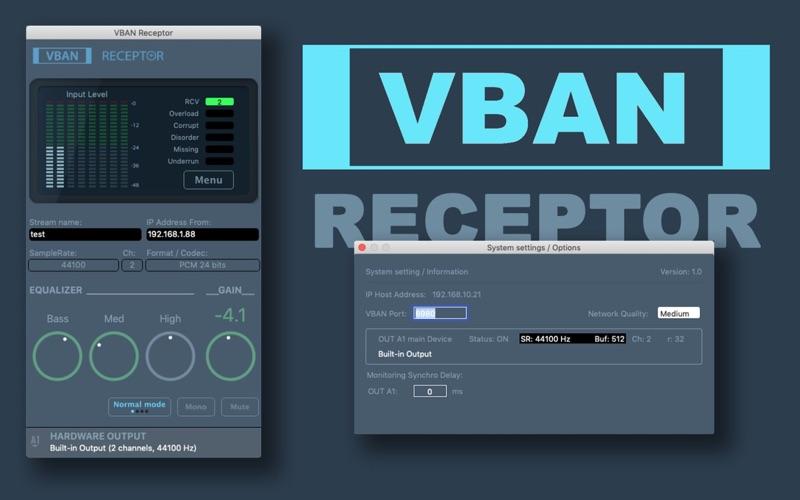 VBAN Receptor for Mac
