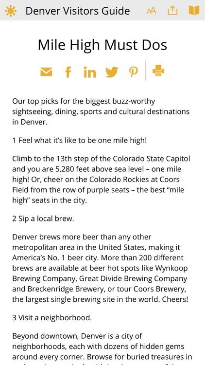 Denver Visitors Guide screenshot-6
