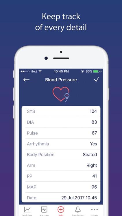 Blood Pressure app BP Monitor screenshot-0