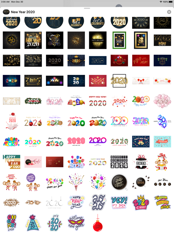 Happy New Year - 2020 Stickers screenshot 8