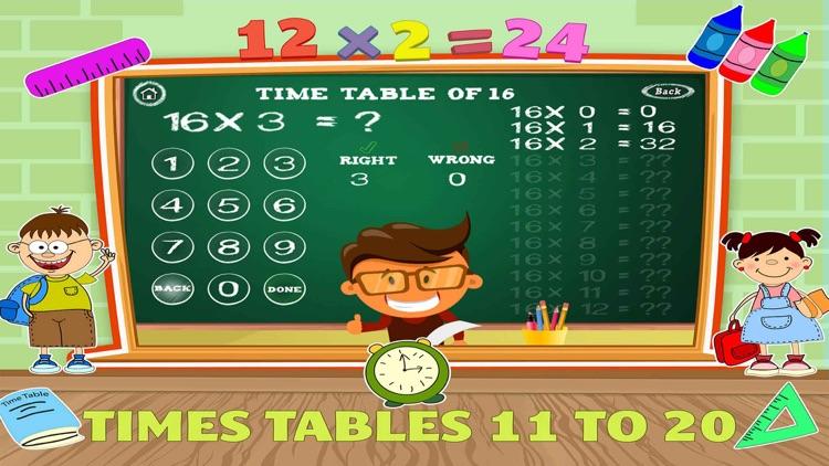 Math Times Table Quiz Games screenshot-3