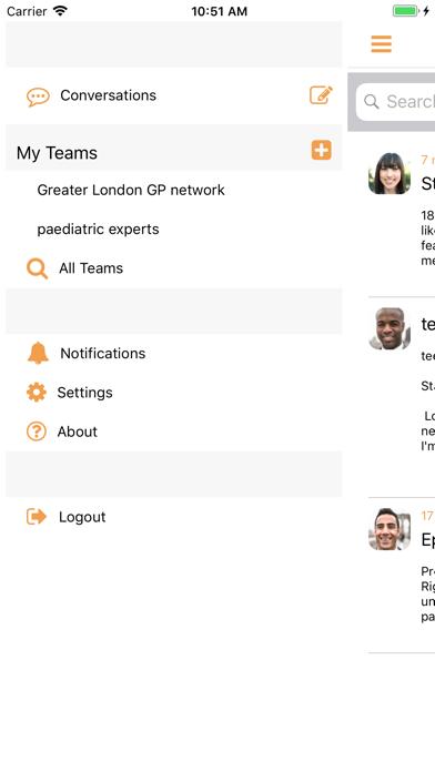 medCrowd: instant messaging screenshot four