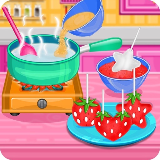 Strawberry Pops Cooking Games