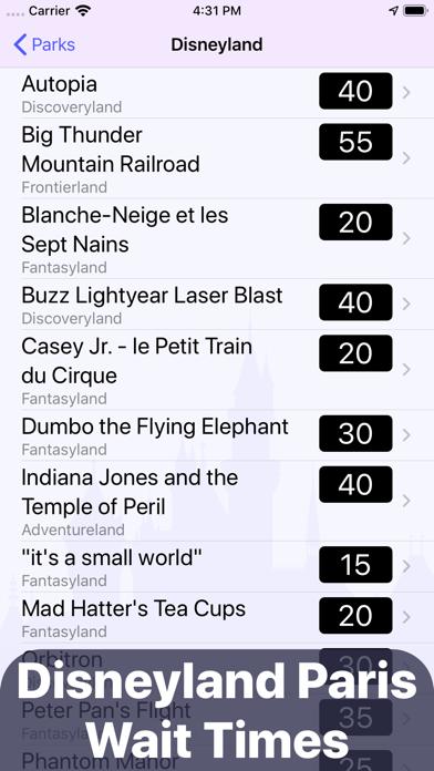 Wait Times: Disneyland Paris Screenshot
